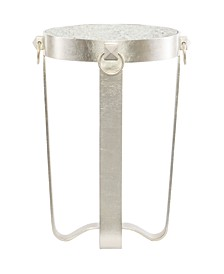 Portia Round Metal Chairside Table