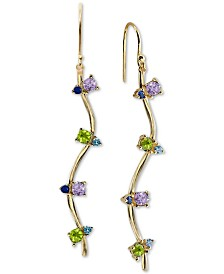 Argento Vivo Cubic Zirconia Drop Earrings in 18k Gold-Plated Sterling Silver