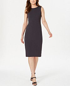 Petite Scuba Crepe Sheath Dress