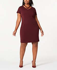 Plus Size Crisscross Sheath Dress