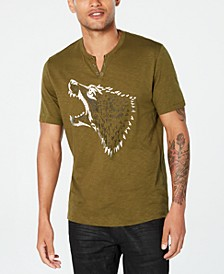 INC Men's Studded Wolf T-Shirt, Created for Macy's
