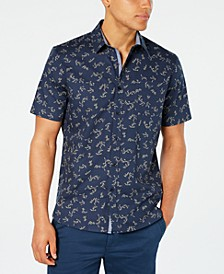 Men's Floral Vine Print Shirt, Created for Macy's