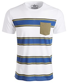 Men's Striped Pocket T-Shirt, Created for Macy's