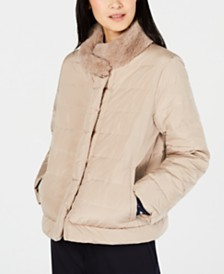 Weekend Max Mara Elfo Faux-Fur Puffer Coat