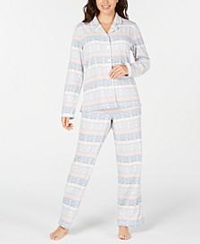 Women's Cozy Fleece Pajama Set, Created for Macy's