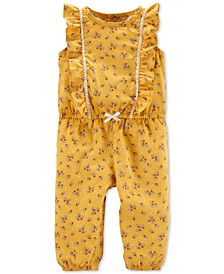 Baby Girls Floral-Print Jumpsuit