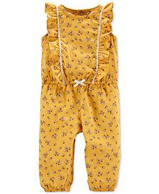 Carter's Baby Girls Floral-Print Jumpsuit