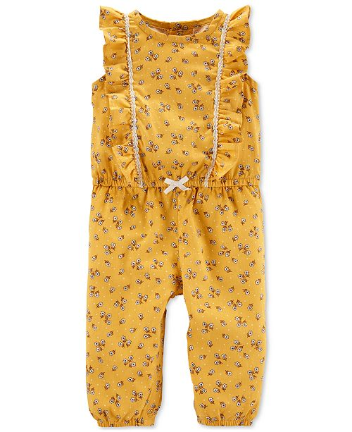 Carter's Baby Girls Floral-Print Jumpsuit