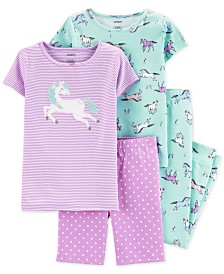 Carter's Little & Big Girls 4-Pc. Horses Cotton Pajama Set