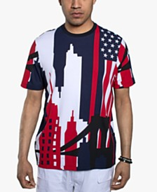 Sean John Men's Patriotic NYC Graphic T-Shirt