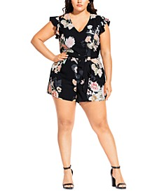 Trendy Plus Size Mid Summer Romper