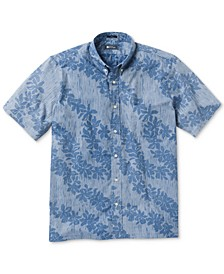 Men's April Downpour Classic-Fit Stripe Floral-Print Shirt