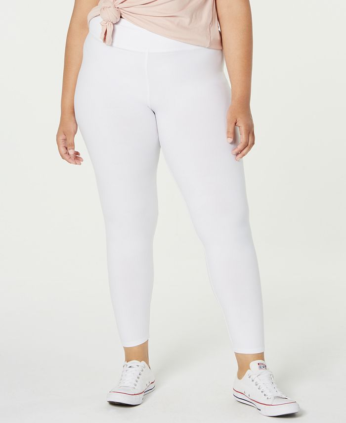 Planet Gold - Trendy Plus Size Brushed Jersey Leggings