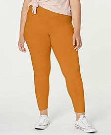 Trendy Plus Size Brushed Jersey Leggings
