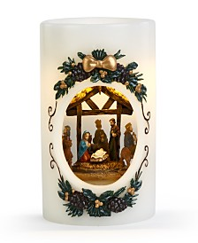 Napco LED Candle with Spinning Nativity