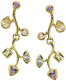 Giani Bernini Multicolor Cubic Zirconia Vine Drop Earrings in 18k Gold-Plate Over Sterling Silver, Created for Macy's