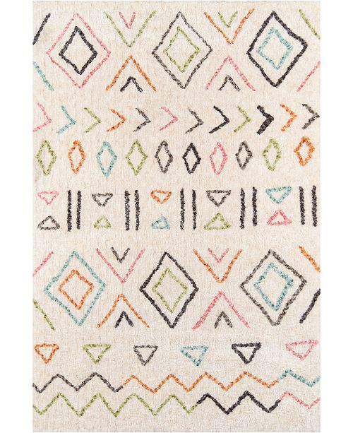 "Novogratz Collection Novogratz Bungalow Bun-8 Ivory 5' x 7'6"" Area Rug"