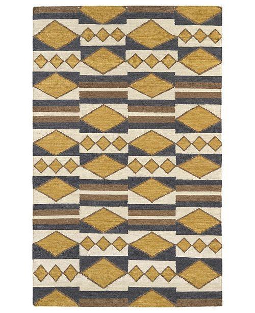 Kaleen Nomad NOM07-05 Gold 9' x 12' Area Rug
