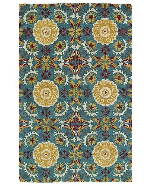 Kaleen Global Inspirations GLB06-78 Turquoise 9' x 12' Area Rug