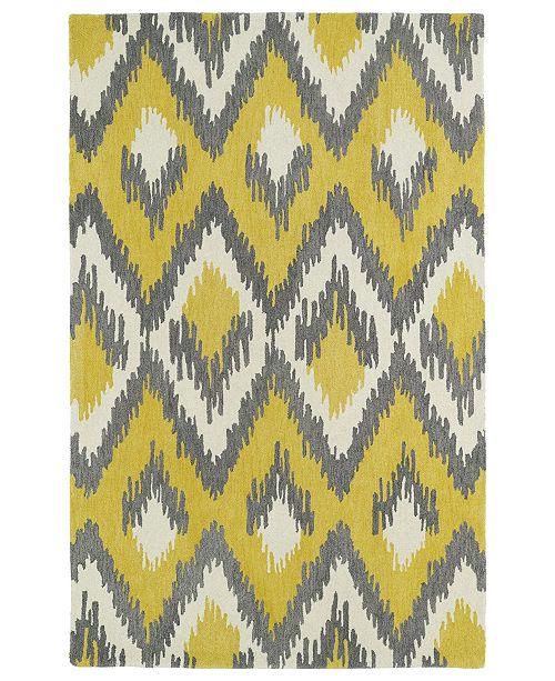 Kaleen Global Inspirations GLB10-28 Yellow 2' x 3' Area Rug