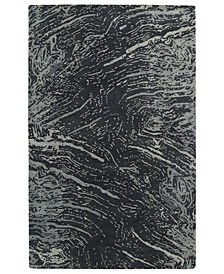 """Brushstrokes BRS01-38 Charcoal 9'6"""" x 13' Area Rug"""
