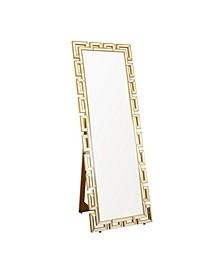 Hassuna Silver Standing Floor Mirror