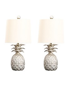 Abbyson Living Zahra Pineapple Table Lamp, Set of 2