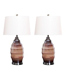 Tallulah Glass Table Lamp, Set of 2