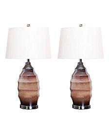 Abbyson Living Tallulah Glass Table Lamp, Set of 2