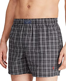 Men's Patterned Woven Boxers