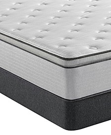 "BR800 13.5"" Plush Pillow Top Mattress Set- Twin"
