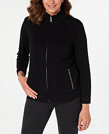 Karen Scott Petite French Terry Zip-Front Jacket, Created for Macy's