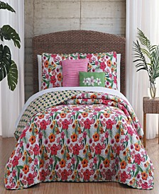 Kailua 5-Pc. King Floral Reversible Quilt Set