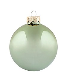 "4"" Glass Christmas Ornaments - Box of 6"