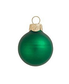 "3.25"" Glass Christmas Ornaments - Box of 8"