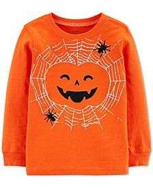Toddler Boys Jack-O-Lantern-Print Cotton T-Shirt