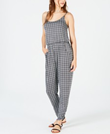 American Rag Juniors' Printed Jumpsuit, Created for Macy's