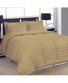 Dream Space Striped Damask King Comforter Set