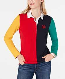 Colorblocked Embroidered Top, Created for Macy's