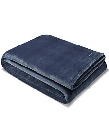 Nautica Ultra Soft Plush Solid Blanket, Full/Queen