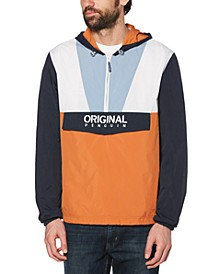 Men's Colorblocked Logo-Print 1/4-Zip Cagoule Jacket