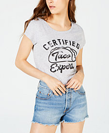 Love Tribe Juniors' Certified Taco Expert Graphic T-Shirt