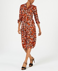 Calvin Klein Animal-Print Shirtdress