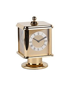 Four Sided Rotating Brass Carriage Clock