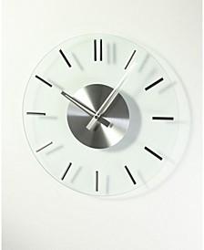Mid Century Silver Glass Clock