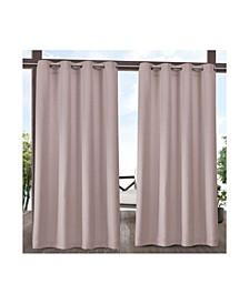 """Delano Heavyweight Textured Indoor/Outdoor Grommet Top Curtain Panel Pair, 54"""" x 96"""""""