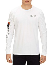 Men's Right Arm Logo Graphic Long Sleeve T-Shirt