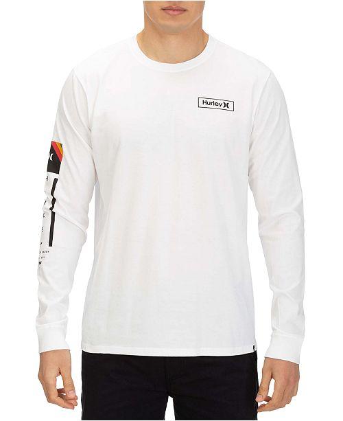 Hurley Men's Right Arm Logo Graphic Long Sleeve T-Shirt