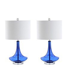 Cecile Glass Teardrop Led Table Lamp - Set of 2