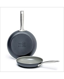 "Chatham 8"" & 10"" Ceramic Non-Stick Open Fry Pan Set"